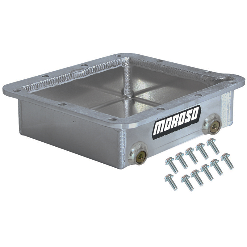 moroso fabricated aluminum transmission pan   depth competition products