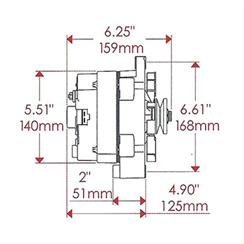 powermaster high output 1wire alternator gm 100 amp