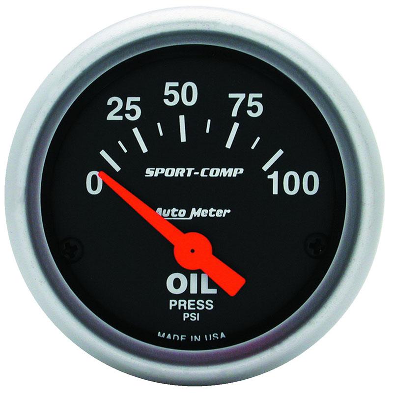 Auto Meter  Sport Comp Elec  Gauge  2 16 U0026quot  Oil Pressure