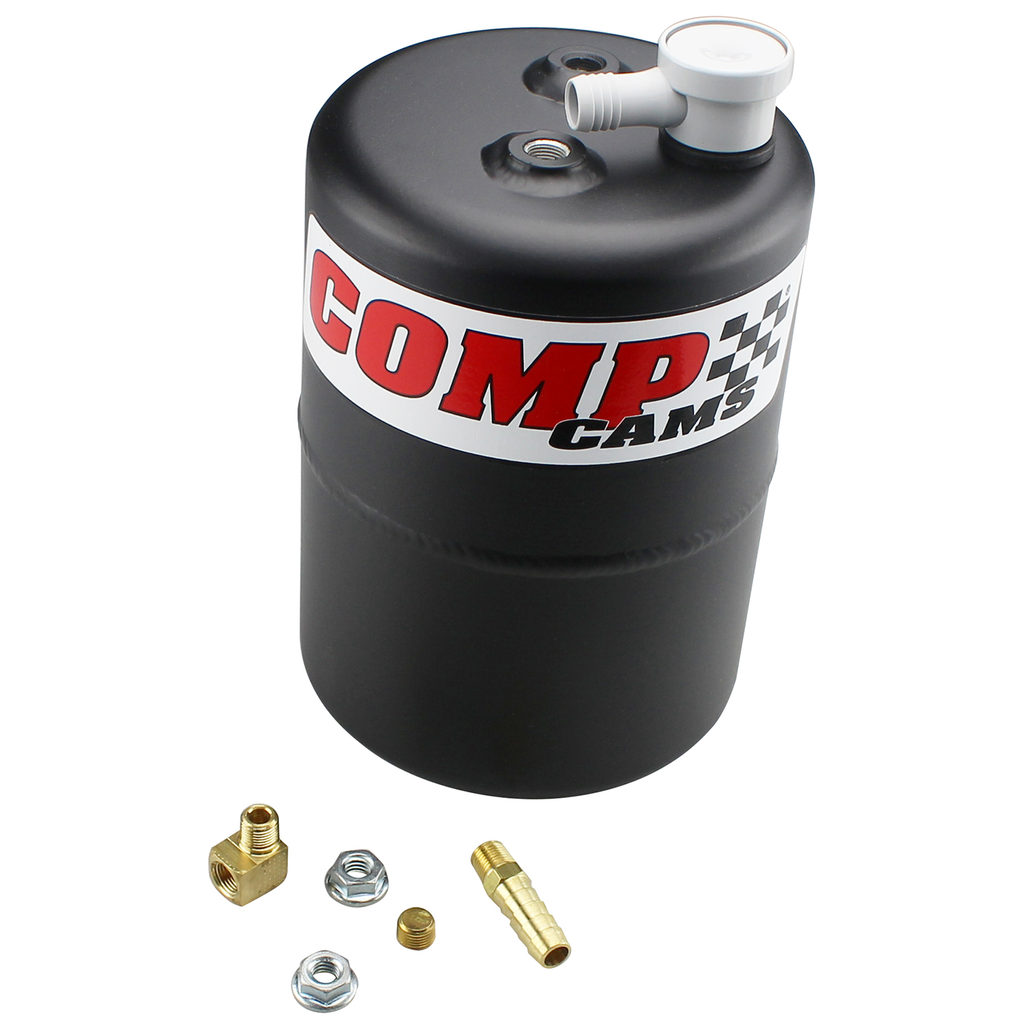 Competition Cams 5200 Black Powder-Coated Aluminum Vacuum Canister