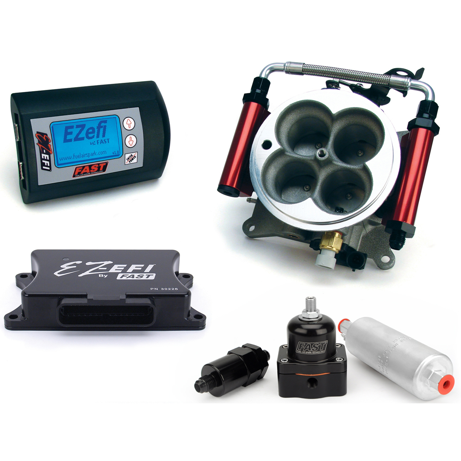 FAST, EZ-EFI Self-Tuning Fuel Injection System, Up to 650HP