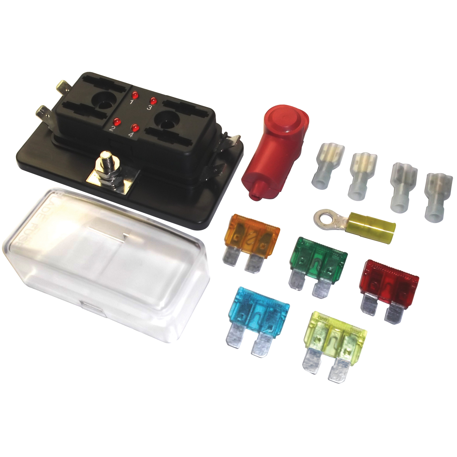 Fastronix  Auxiliary Fuse Panel Kit With Led Indicator  4