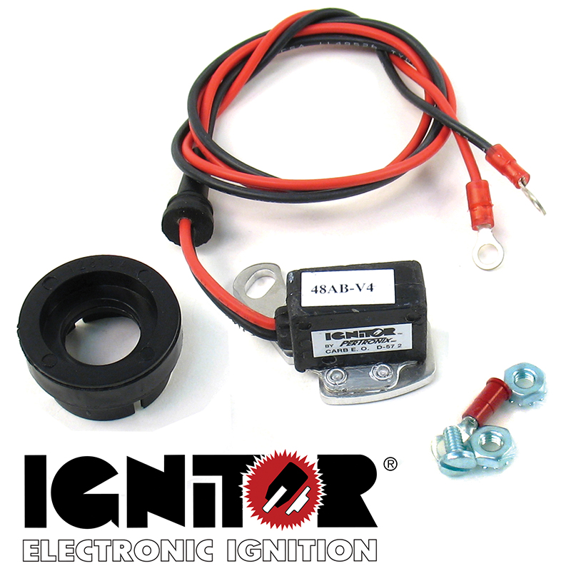 pertronix, ignitor electronic ignition conversion, ford v8 57-74 (w/ single