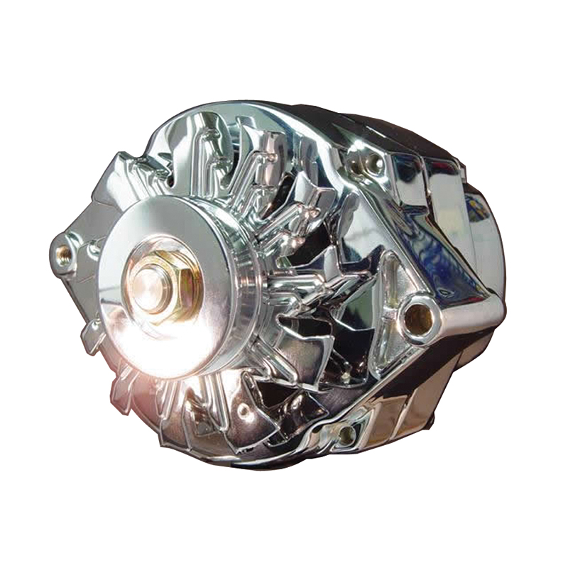 Power Products High Output 1-wire Alternator  Gm  100 Amp  10si Case  Chrome