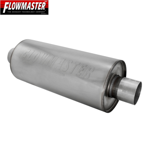 "FLO12514310 2.5/"" Inlet//Outlet Flowmaster dBX Stainless Steel Round Muffler"