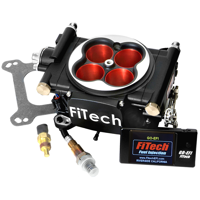 fitech go efi 4 power adder fuel injection system 600 hp matte black competition products. Black Bedroom Furniture Sets. Home Design Ideas