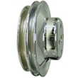 Chrome Steel Water Pump Pulley, Chev BB, Long WP, Double