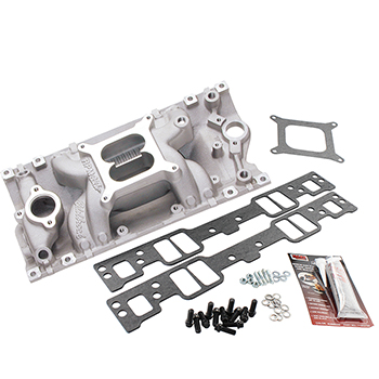 Edelbrock, RPM Air Gap Intake Manifold Kit, Chev SB Vortec, Natural Finish, 1500-6500 RPM