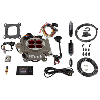 FiTech, Go Street Self-Tuning EFI System, Master Kit w/Inline Fuel Pump, Up to 400HP, Cast Finish