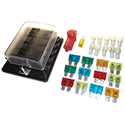 Fastronix, Auxiliary Fuse Panel Kit with LED Indicator, 10 Circuit,