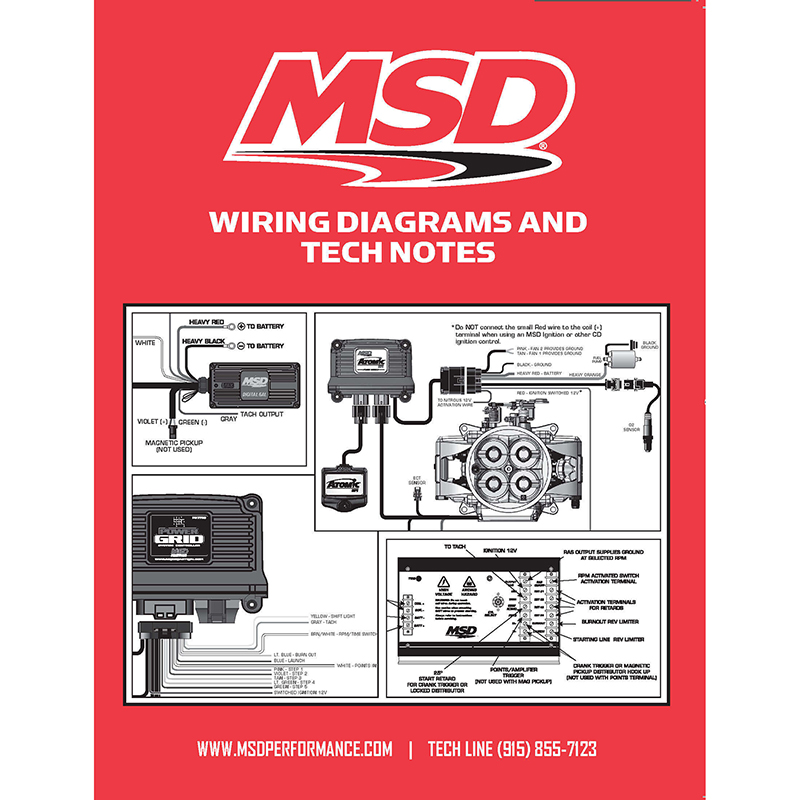 Msd Ignition  Wiring Diagrams And Tech Notes Book