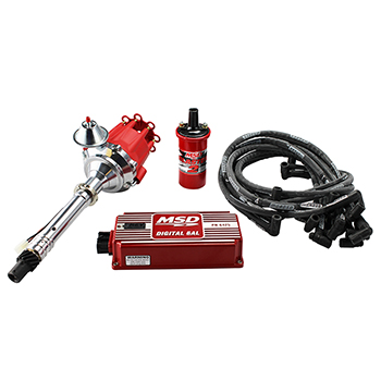 Power Products, Billet Racing Ignition Kit, Chev SB/BB w/ Vacuum Advance, Red