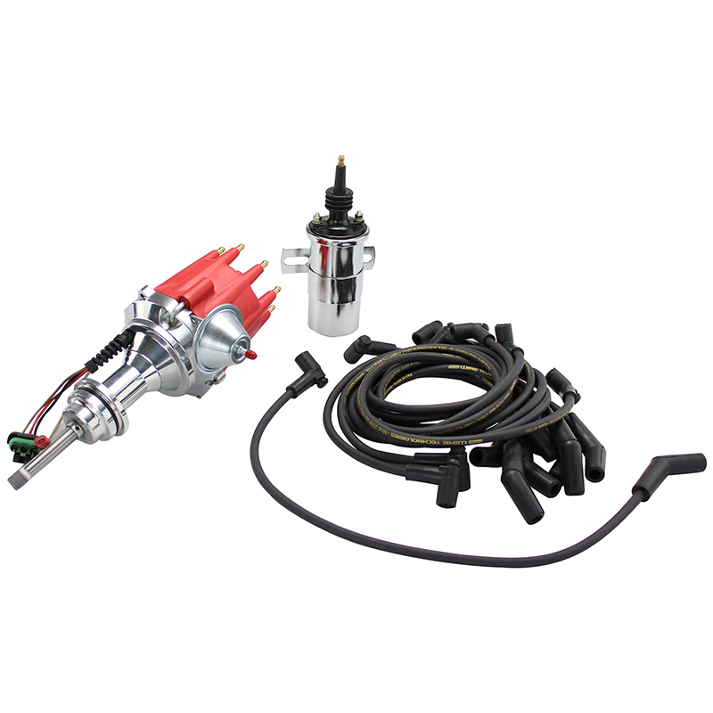 power products  power plus billet ready-to-run ignition kit  chrysler sb  red cap