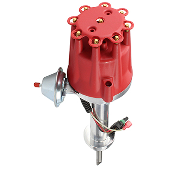 Power Products, Power Plus Billet Ready To Run Distributor, Chrysler 426, 440, Red Cap