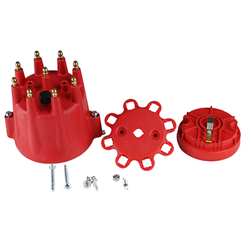 Power Products, Distributor Cap & Rotor Kit, Chev SB/BB, Red
