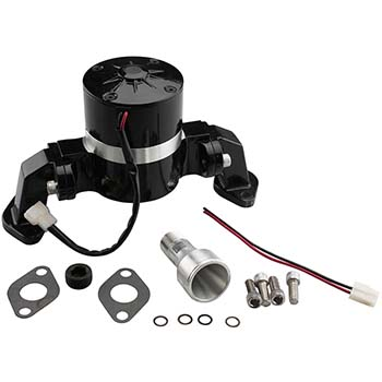 Power Products, Aluminum Electric Water Pump, Chev BB, Black