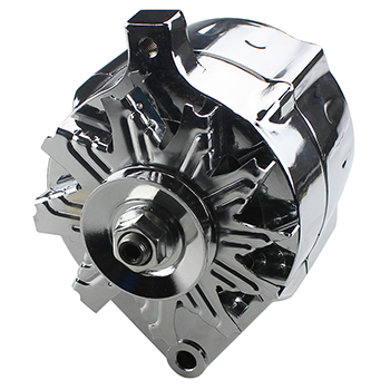 Power Products, High Output 1-Wire Alternator, Ford, 100 amp, Chrome