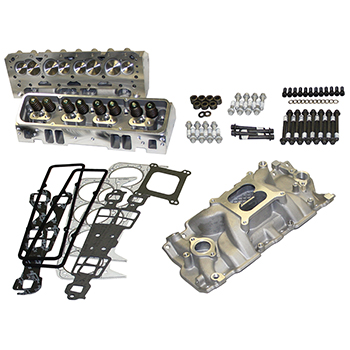 Power Products Top of Engine Kit, Chev SB, 205cc, Angle Plug, Dual Plane Intake