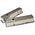 Power Products Polished Aluminum Valve Covers, Chev SB, Tall, w/ Breather Holes