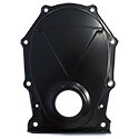 Power Products Steel Timing Cover, Chrysler Big Block, Black