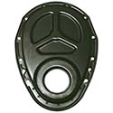 Power Products, Reinforced Thrust Timing Cover, Chev SB, Satin Black