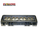 Power Products, Cylinder Heads, Chev SB, Aluminum, 205/64cc, Angle Plug, Assembled (Mech FT/Hyd Roller), Pair