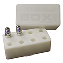 Spark Plug Box, Holds Eight Plugs, White
