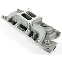 TSP, Air Gap Dual Plane Intake Manifold, Ford SB, Satin Finish