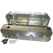 Fabricated Aluminum Valve Covers, Chev BB, Short-Bolt Design, Tall w/Breather Hole, Pair